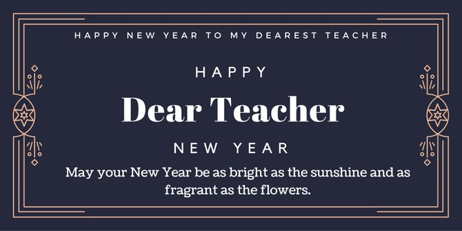 happy new year wishes for teacher 2018
