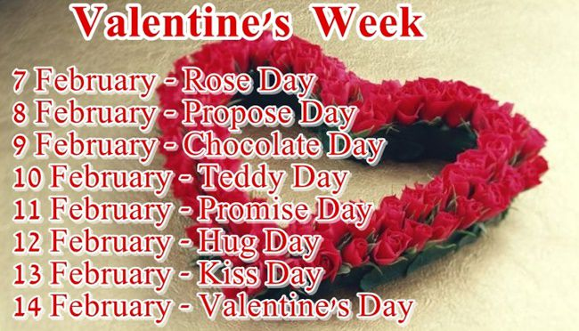 Valentines Week 2019 Days And Dates Lovers Week