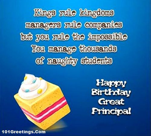 [35+] Best Birthday Wishes For Principal From Student