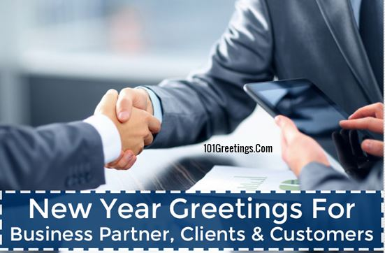 happy new year greetings for business